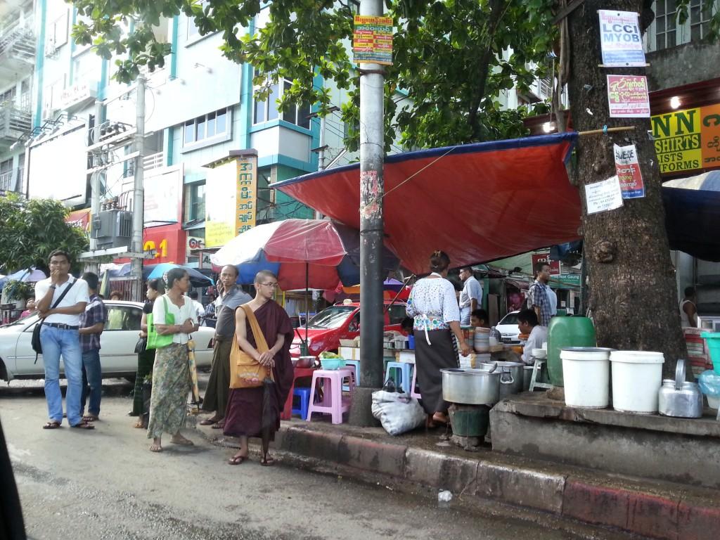 ミャンマーの街並み